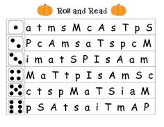 Roll and Read Letter Naming Fluency Assessment (from What I Learned in Kindergarten)