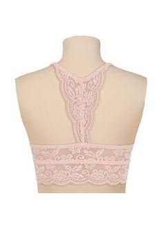 pink Racerback lace