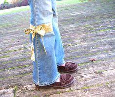 tourniquet patch jeans - cute!