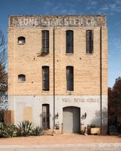 Old Texas factory turned into a wonderful, wonderful home.  I'd like to do that!