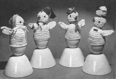 Crocheted Egg Warmers free crochet pattern
