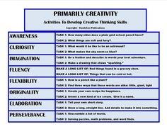 Creative Thinking Chart!