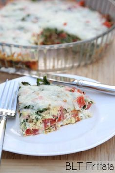 Easy and Delicious Recipe for BLT Frittatas ~ except no lettuce, we are using fresh spinach!   5DollarDinners.com