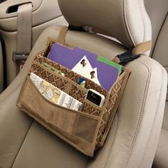 Driver Organizer, Hanging Car Storage, Car Seat Pockets  SO NEED THIS!