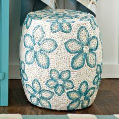 Shell Mosaic Collection - Ottoman(for beach themed bdrm and/or bathrm)