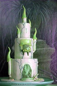 Castle Cake in Green