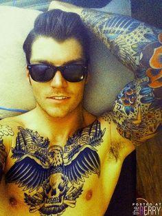 tattooed guy inked ink man tattoos
