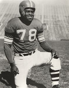 All-American football player  Don Coleman, ca. 1952 by Michigan State University Archives, via Flickr