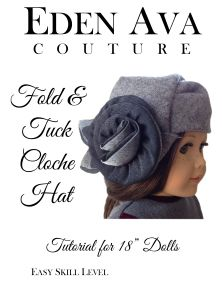 FREE Fold and Tuck Cloche pattern
