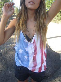 American flag tank