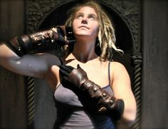 Lady Mechanika Style Steampunk Gauntlet by RaggedEdgeLeather on Etsy