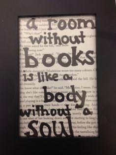 book quote art, reading nooks, librari, bookish quot, hous, read nook, quot art