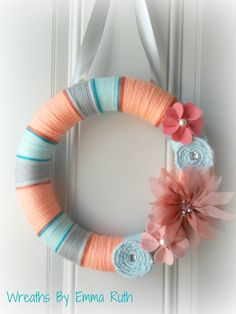 I love the colors    Summer Coral, Tiffany Blue, and Gray
