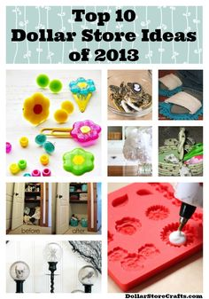 •❈• Top 10 Dollar Store Ideas of 2013 - from DollarStoreCrafts.com