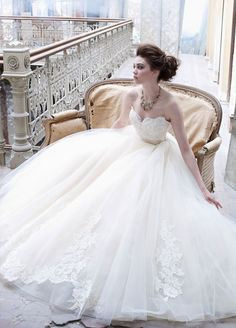 Gorgeous Fall 2012 Lazaro bridal gown ~#repinned by Lori Cole for California Bridal Eventz