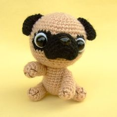 Pug Amigurumi by jaravee on Etsy