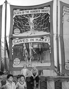 1945 Mercury Wonder Show- amazing banners! Sideshow World - Sideshow History, Sideshow Memories, Sideshow Stories, Sideshow Photographs, Sideshow Art at Sideshow World
