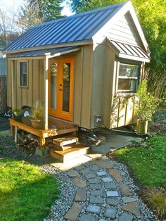 Pictures of 10 Extreme Tiny Homes From HGTV Remodels : Interior Remodeling : HGTV Remodels wheel, tini hous, tiny houses, porch, garden