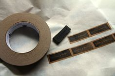 Kraft tape labels...print your own decorative tape...