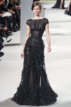 #Elie Saab.  black dresses #2dayslook #new style #blackstyle  www.2dayslook.com