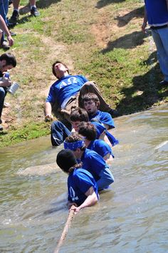 Each year, LeTourneau University societies compete to see who can pull the other team into the campus duck pond. Winners get bragging rights for the rest of the year. http://www.letu.edu/