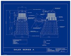 Dr Who Dalek Humorous 16x20  Limited Edition Blueprint by DBArtist, $30.00