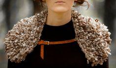 Handknitted Handspun Handmade Natural Wool Collar.