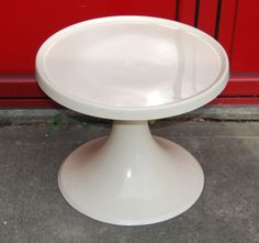 1960s white fibreglass coffee table