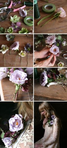 Make your own romantic corsage with this how-to from Amy Merrick.