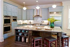 Private label custom cabinets by @BeckySue~ DesignsByBSB All Kitchen Aid appliances