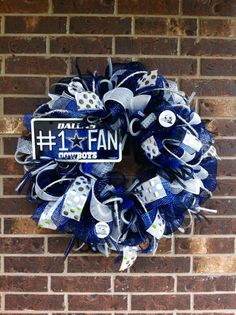 Dallas COWBOYS Deco Mesh Wreath by SparkledIntentions on Etsy, $110.00