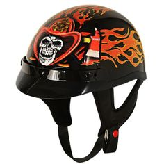 Outlaw Motorcycle Half-Helmet with Fire Department Graphics | Shared by LION