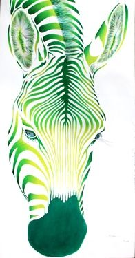 Saatchi online - beautiful Zebra art - love these paintings!! An idea for learning about colors and blending. Choose anal. or ter. colors