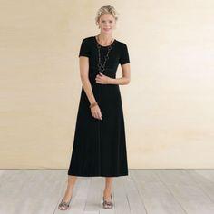 Plus Size Tres Elegant Knit Tea-Length Travel Dress from Travel Smith