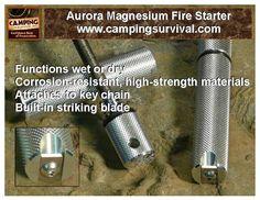 Aurora Magnesium Fire Starter at www.campingsurvival.com