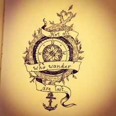 #Compass #tattoo those who wander know  that it is within the spaces of unknowing that our heart speaks the most clearly to us