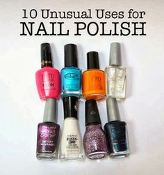 10 Unusual Uses for Nail Polish | I have been busy implementing these ideas and results are quite stylish and wonderful,,#nails, #diy