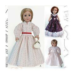 Carpatina Clothes Pattern Doll Civil War Period