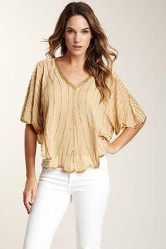 Farrah Beaded Silk Top