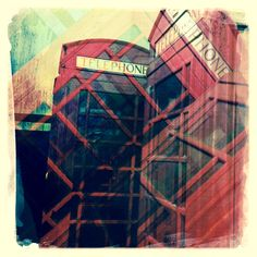 Double exposure phone boxes by Craig Dunn