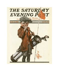 jc leyendecker original illustrations | Leyendecker Golf Cover From Saturday Evening Post 1920