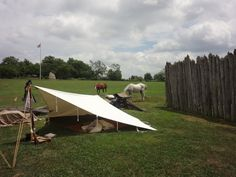 Proctor's Militia Encampment during Colonial Court Days 2012.  #HistoricHannasTown #Greensburg #PA #colonial #history