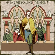 Ganelon was another enemy in the Song of Roland. He was a Frankish lord and step-father of Roland. But he betrayed his stepson and ensured that he died at Roncevalles. Once discovered he demanded trial by combat. His champion was miraculously defeated and Ganelon was torn asunder by four horses. Thirty of his relatives were also executed.