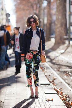 Floral fancy pants.