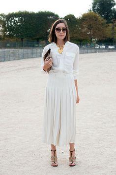 Street style moda en la calle tendencias faldas midi | Galería de fotos 9 de 27 | Vogue México