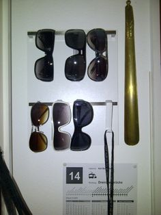 IKEA Hackers: Sunglass organizer .... Perfect way to display all of our sunglasses! I need this! My weakness is sunglasses!