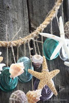You don't need a beach house to bring the beach in! Simple Summer Decorating – Beach Garland