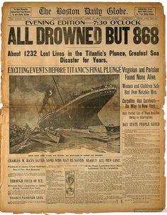 Titanic headlines