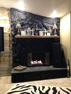 Lava Rock Fireplace Gallery Image Seniorhomes