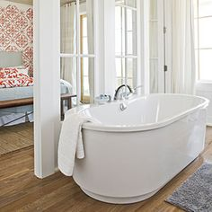 65 Calming Bathroom Retreats | Open Up the Space | SouthernLiving.com